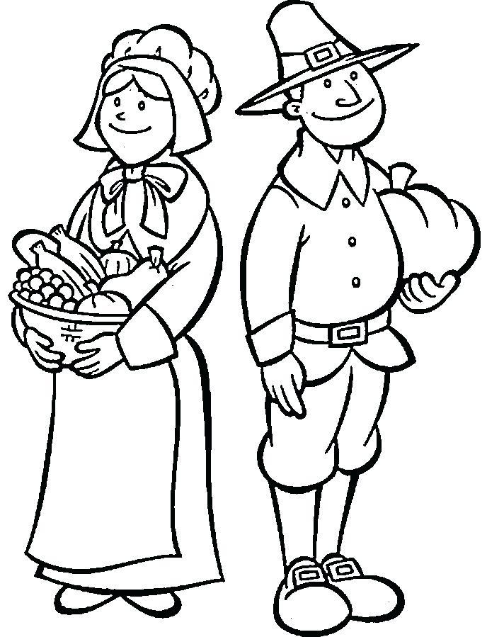688x899 Pilgrim Coloring Pages Thanksgiving Pilgrim Coloring Page