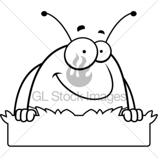 325x325 Cartoon Pill Bug Grass Sign Gl Stock Images