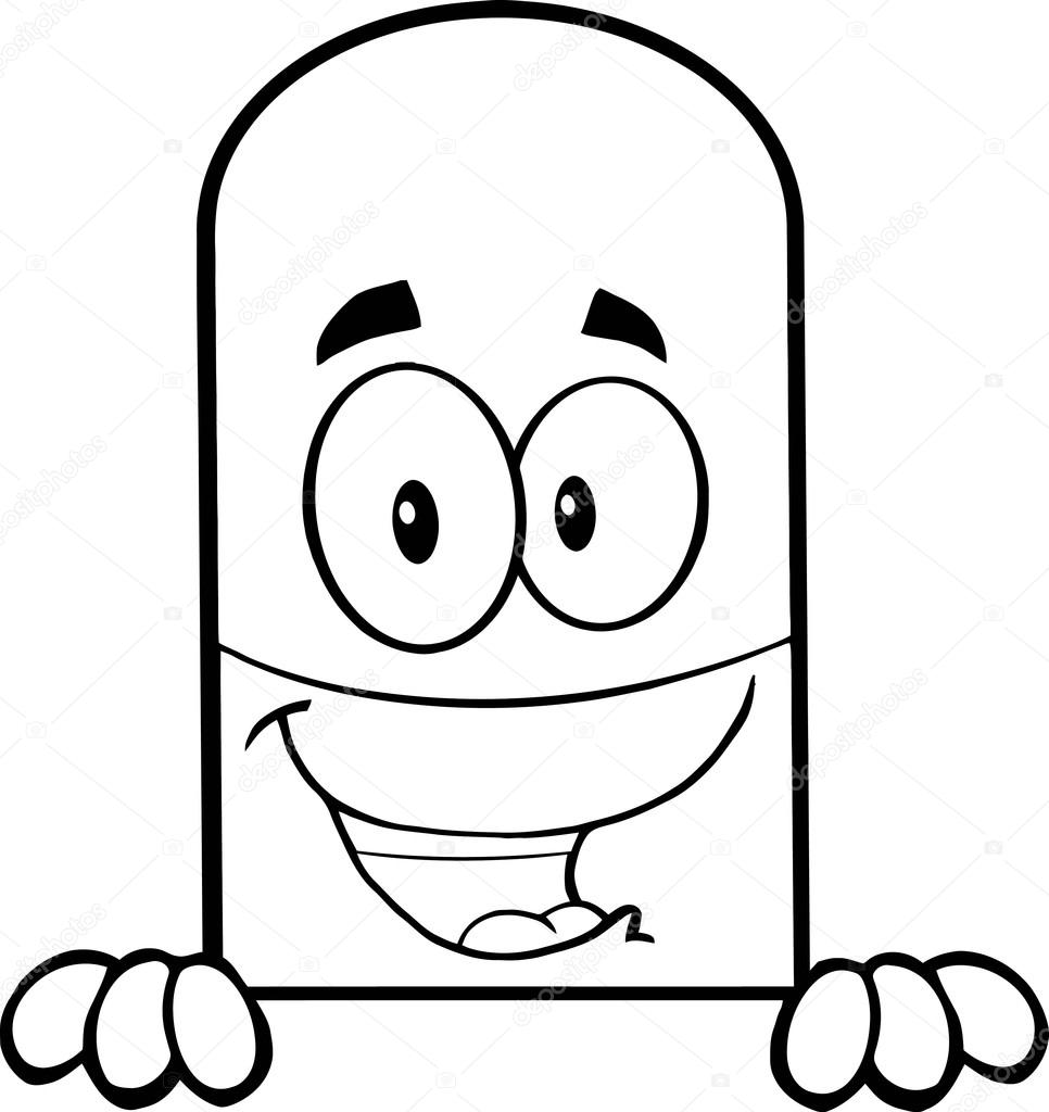 966x1024 Pill Capsule Cartoon Character Stock Vector Hittoon