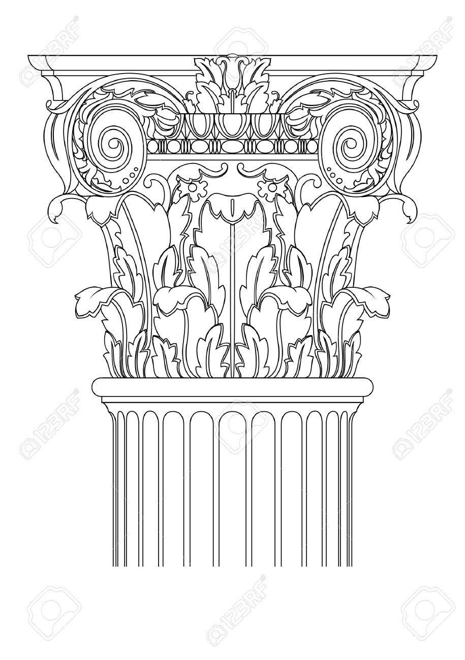915x1300 Clasic Column Royalty Free Cliparts, Vectors, And Stock