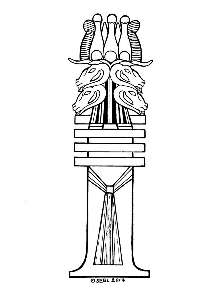 774x1032 Mendesian Djed Pillar Coloring Sheet By Warboar