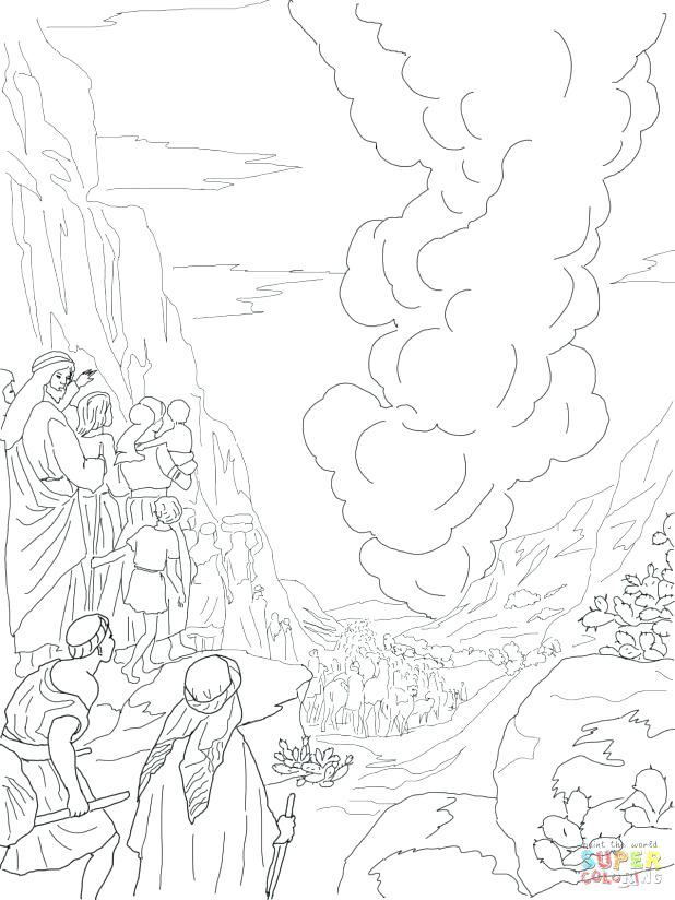 618x824 Pillar Of Cloud And Fire Coloring Pages