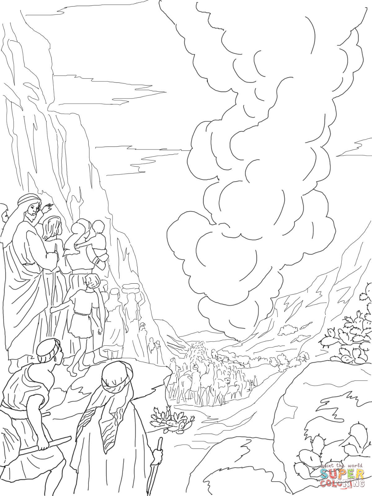 1200x1600 Pillar Of Fire And Cloud Coloring Page Free Printable Coloring Pages
