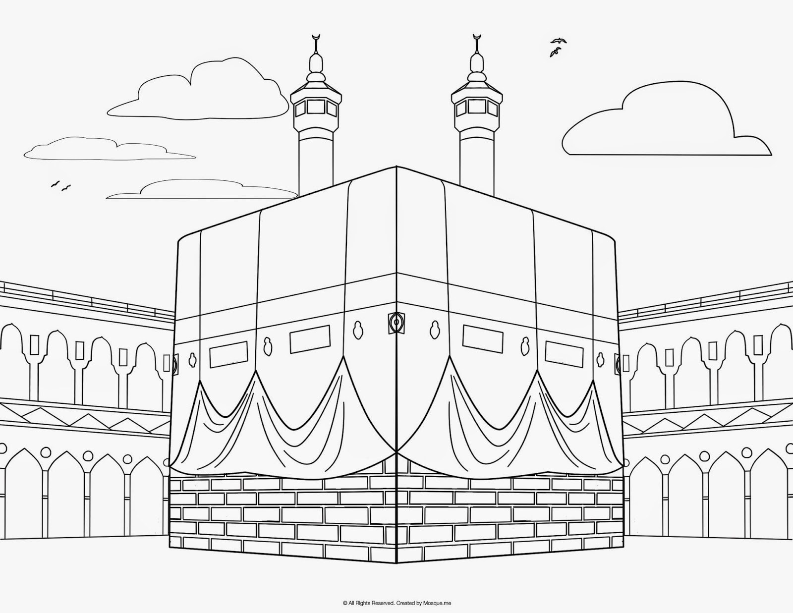 1600x1237 5 Pillars Of Islam Coloring Page Pages For All Ages With Islamic