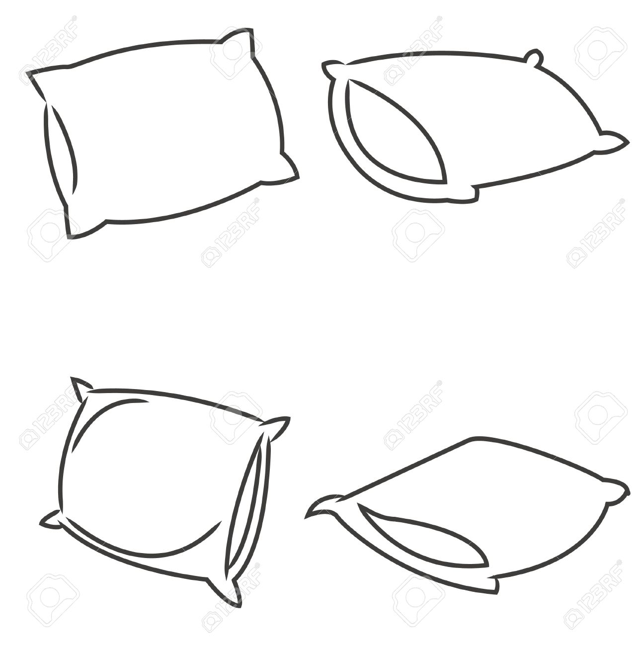 Pillow Drawing at GetDrawings | Free download