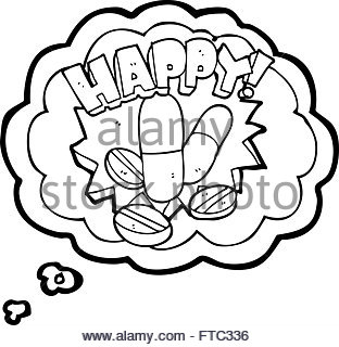 312x320 Freehand Retro Cartoon Happy Pills Stock Vector Art Amp Illustration