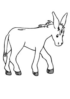 235x333 Donkey Pattern. Use The Printable Pattern For Crafts, Creating