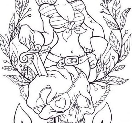 428x400 Collection Of Zombie Pin Up Girl Tattoo Sample