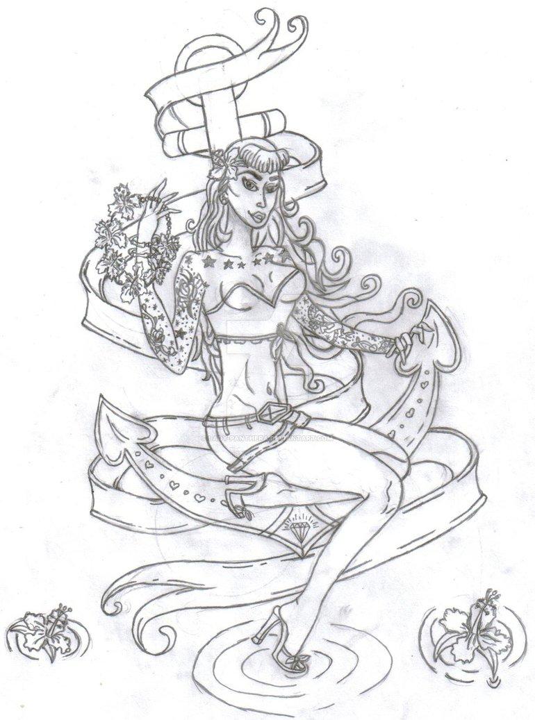 770x1037 Tattooed Pin Up Girl By Lady Panthera