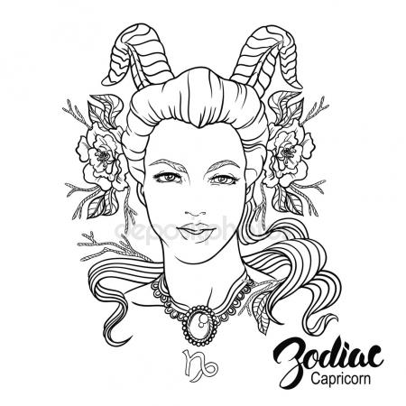 450x450 Black And White Pin Up Sexy Woman, Hand Drawn Vector Illustration