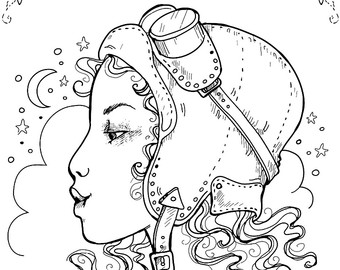 340x270 Adult Colouring Page. Gothic