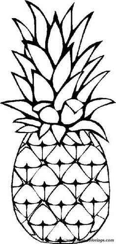 236x497 Outline Black And White Image Of A Pineapple Royalty Free Cliparts