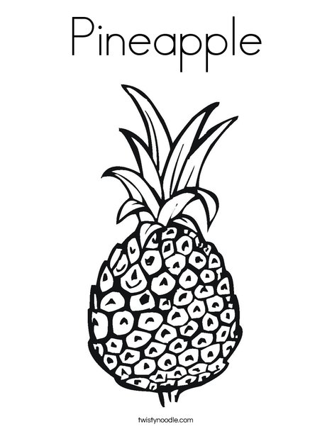 468x605 Pineapple Coloring Page