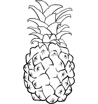 380x400 Pineapple Black And White Pineapple Clipart Black Volvoab