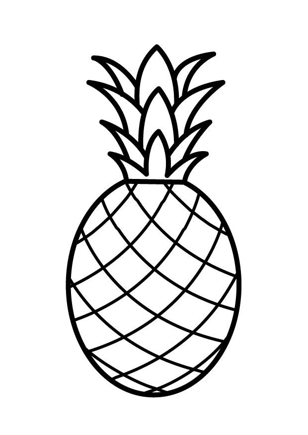 620x875 Coloring Page Pineapple