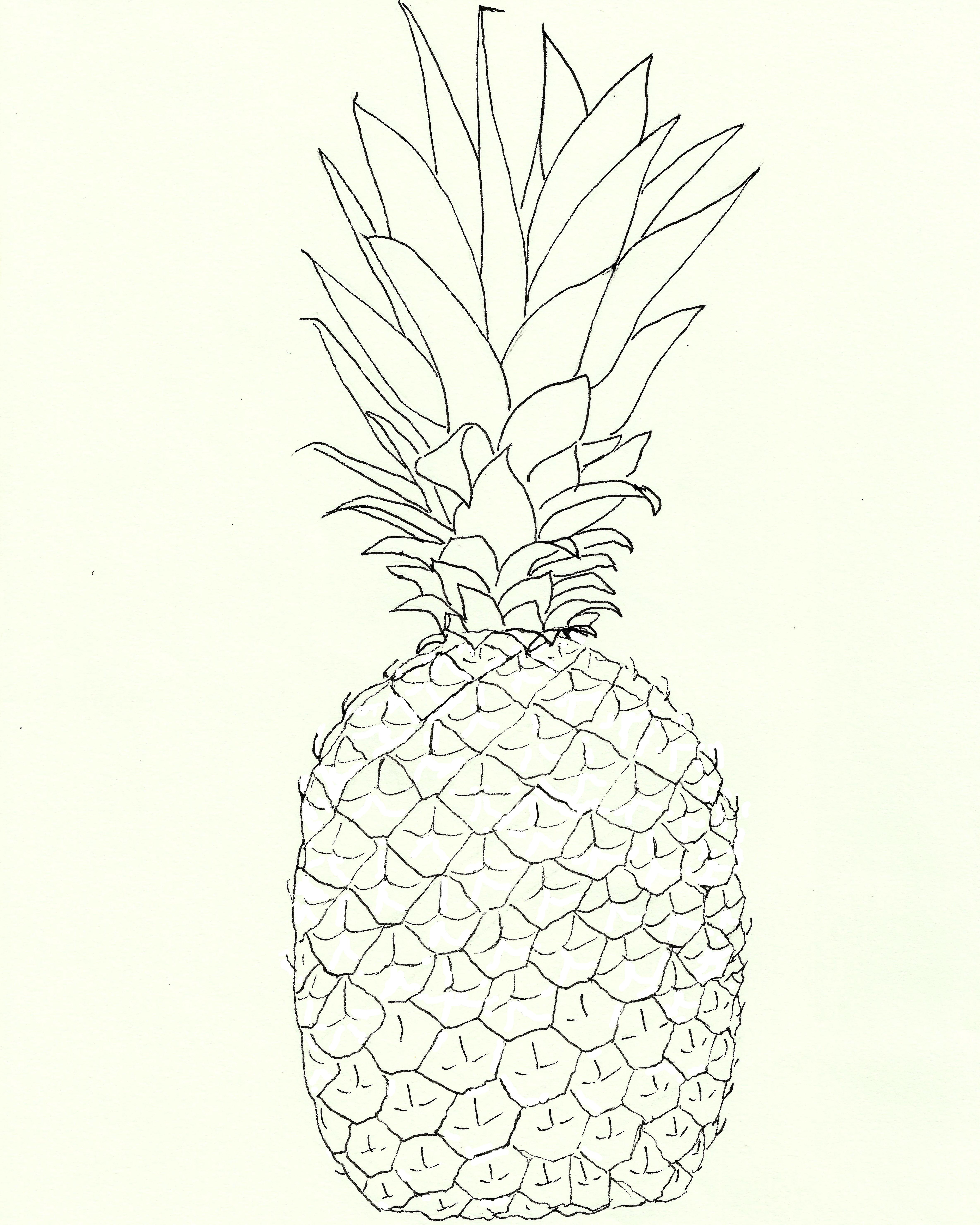 4739x5924 Free Pineapple Watercolor Printable!
