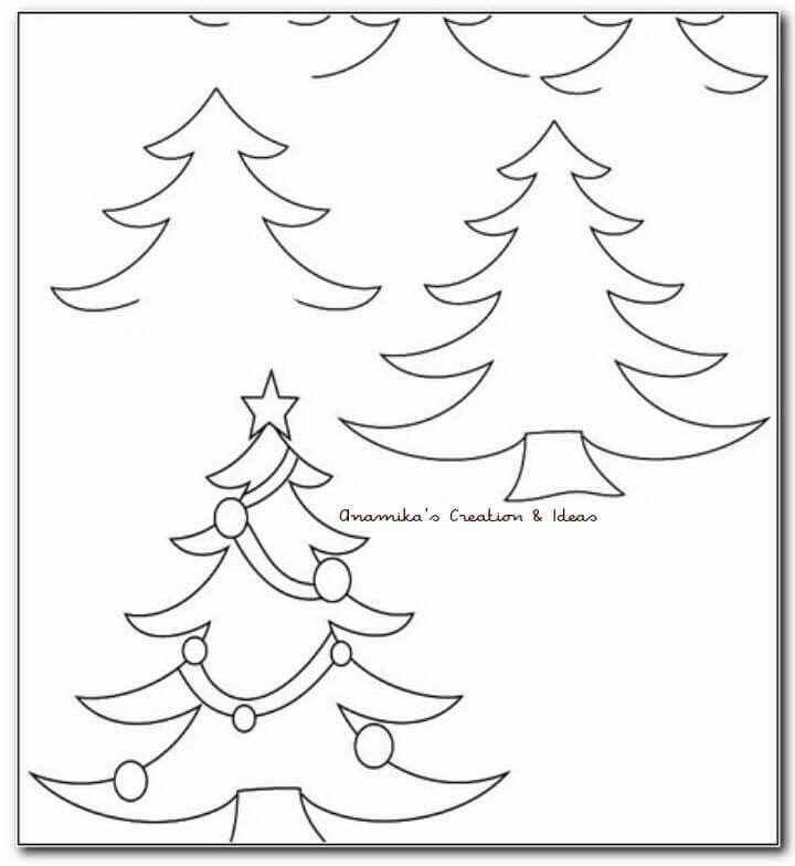 Pine Tree Drawing Tutorial