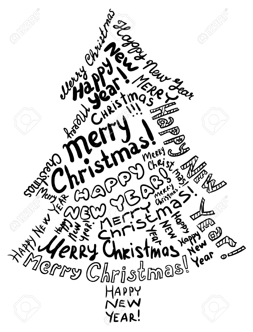 989x1300 Clipart Christmas Line Drawings
