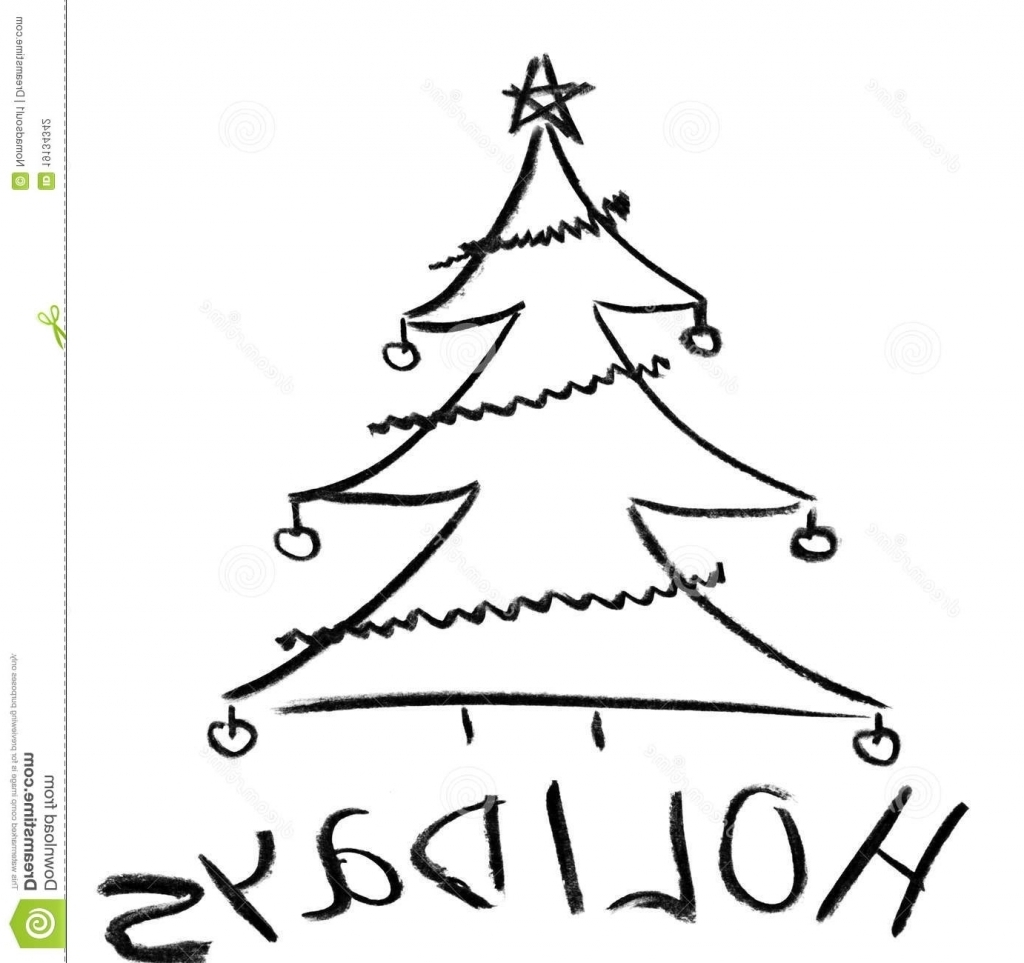 1024x963 Christmas Tree Sketch Pencil Drawing Christmas Tree Pencil Drawing