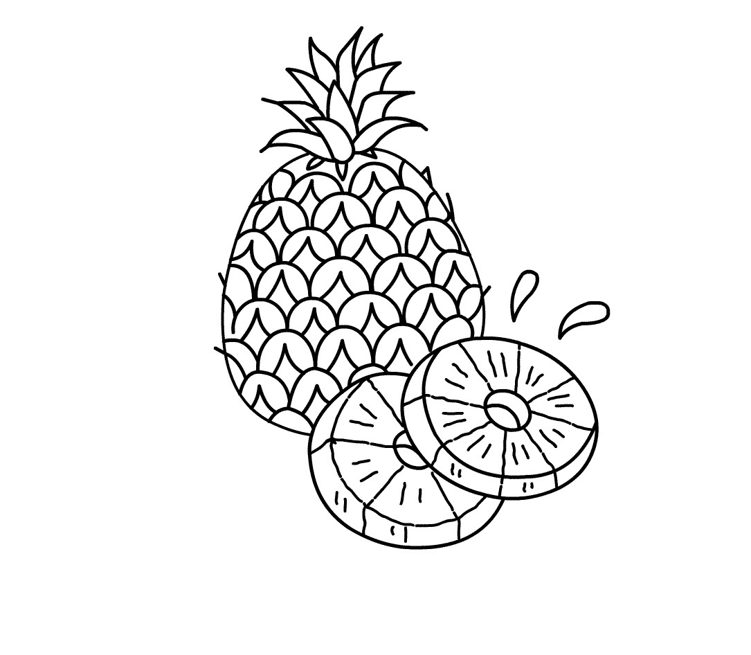 Pineapple Drawing at GetDrawings.com | Free for personal use ... for Clipart Pineapple Black And White  58cpg
