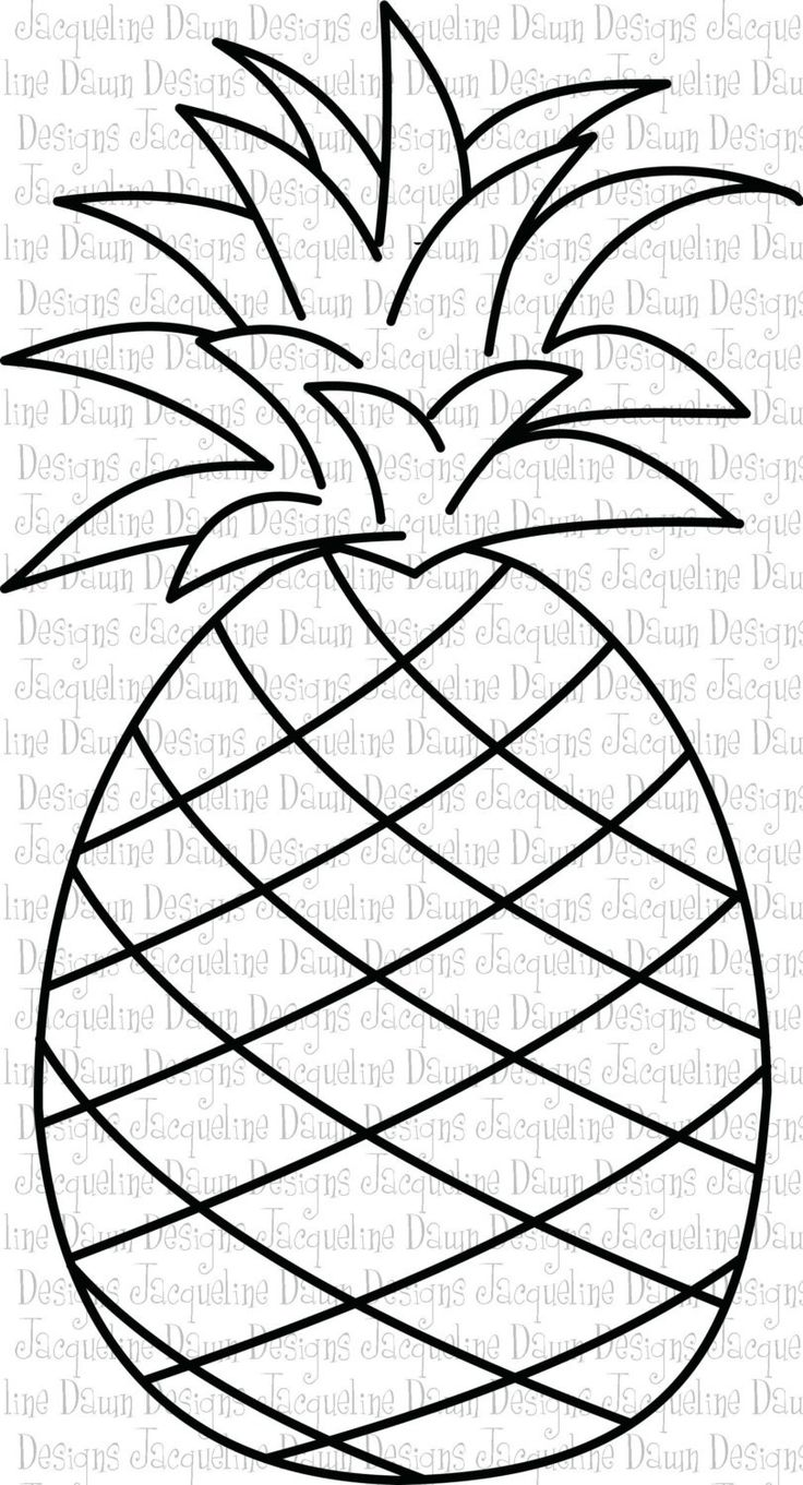 It's just a graphic of Inventive Pineapple Stencil Printable
