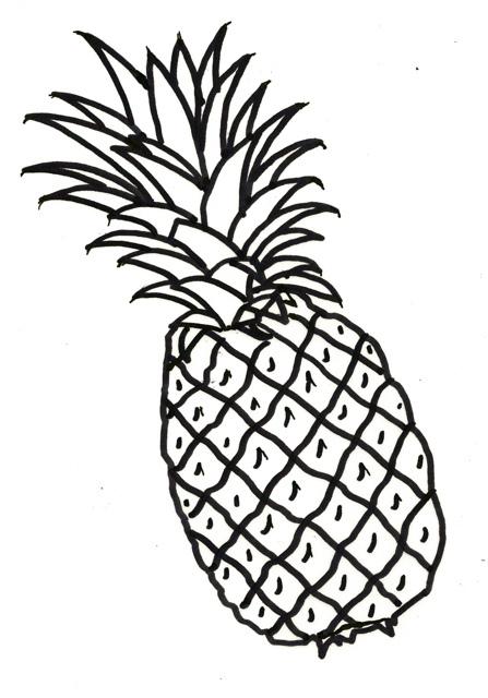 Pineapple Drawing Clip Art at GetDrawings | Free download