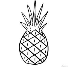 236x228 Drawn Pineapple Simple
