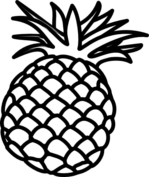 504x598 6 Best Images Of Pineapple Outline Printable
