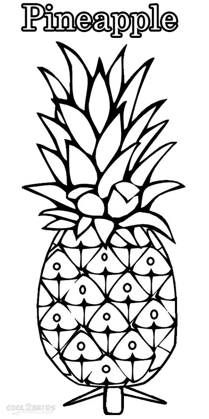 425x850 Pineapple Coloring Page