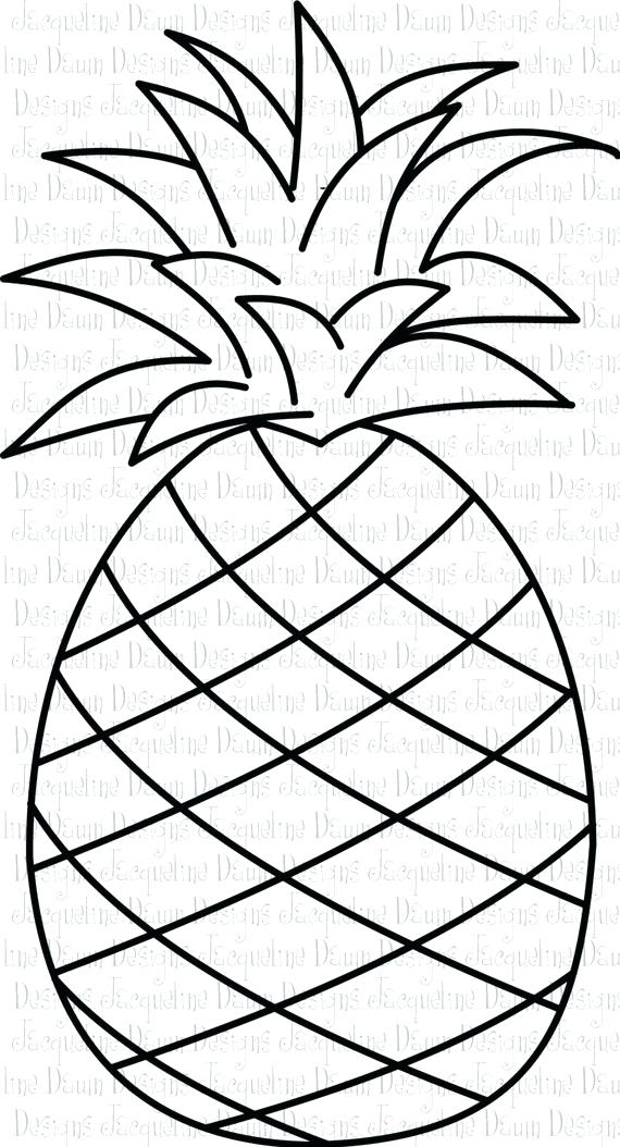 570x1054 Pineapple Coloring Page Pineapple Outline Spongebobs Pineapple