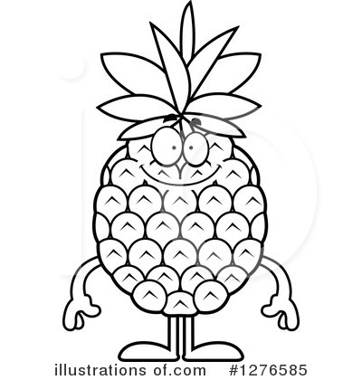 400x420 Pineapple Outline
