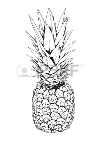 324x450 Cute Cartoon Pineapple With Sunglasses Vector Illustration Royalty
