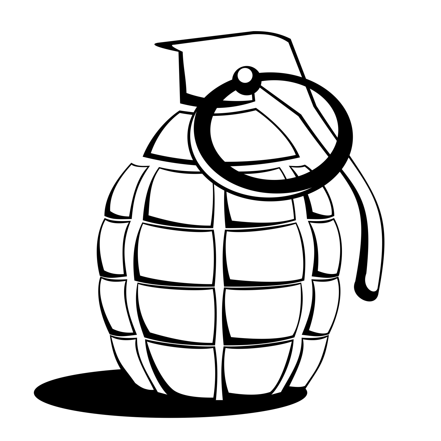 1500x1500 Drawn Grenade Pineapple