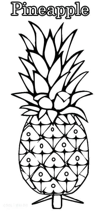 425x850 Pineapple Coloring Page Pages For Kids