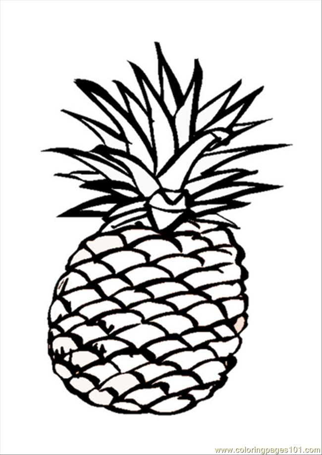 650x918 63 Pages Photo Pineapple Dm9547 Coloring Page