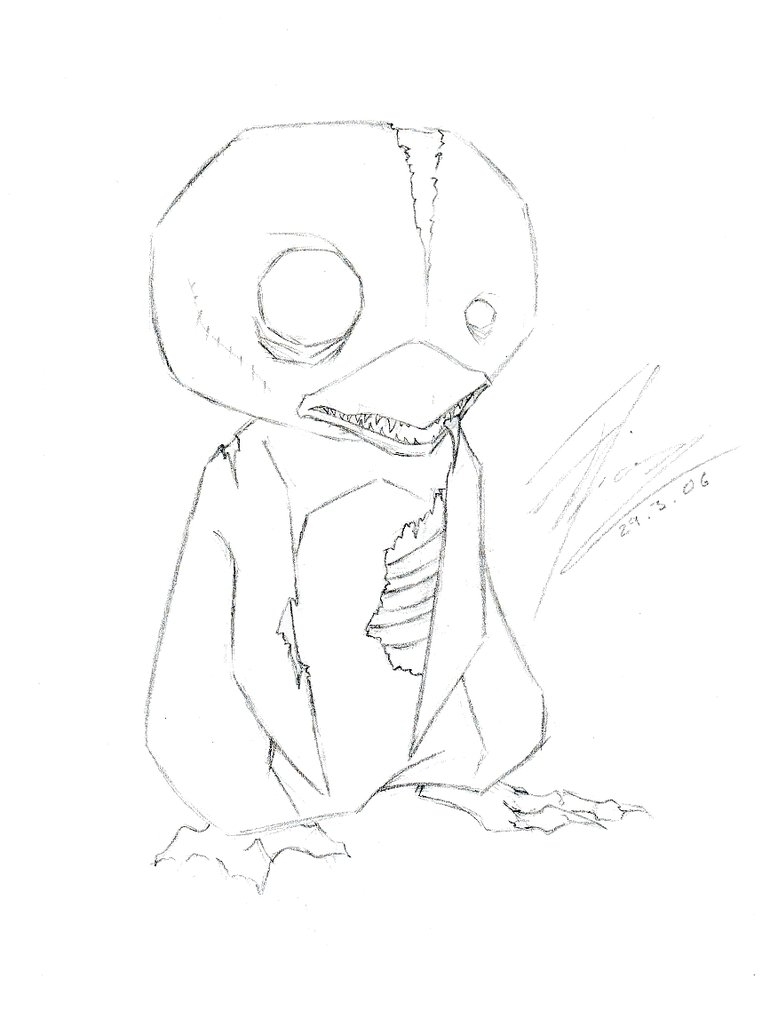 778x1027 Zombie Penguin By Ffufi