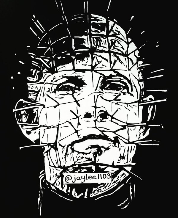600x733 Johnny Green On Twitter Finished Drawing Of Pinhead.
