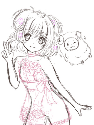 320x427 Here Is A Super Rough Sketch Of My Next Drawing X3