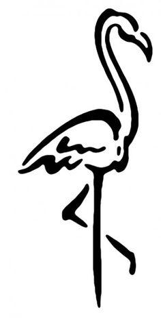 236x464 Flamingo Line Drawing Tattoo Flamingo, Tattoo