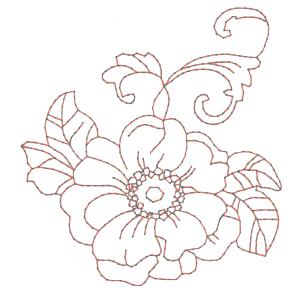 300x300 Drawing Embroidery Machine Fancy Flowers Redwork Machine