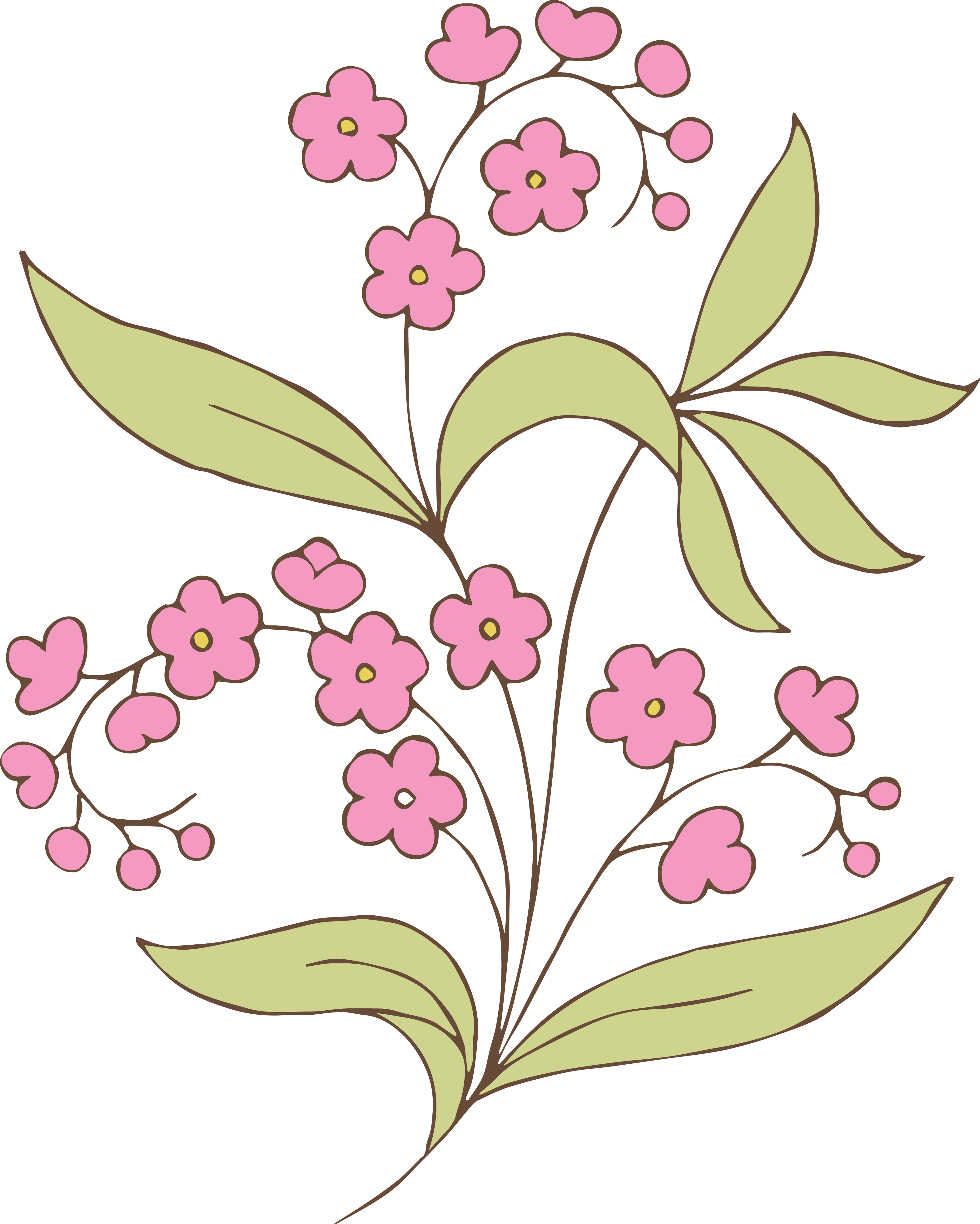 3137x3917 Free Stock Vector Vintage Pink Flower Amp Clip Art Images Oh So