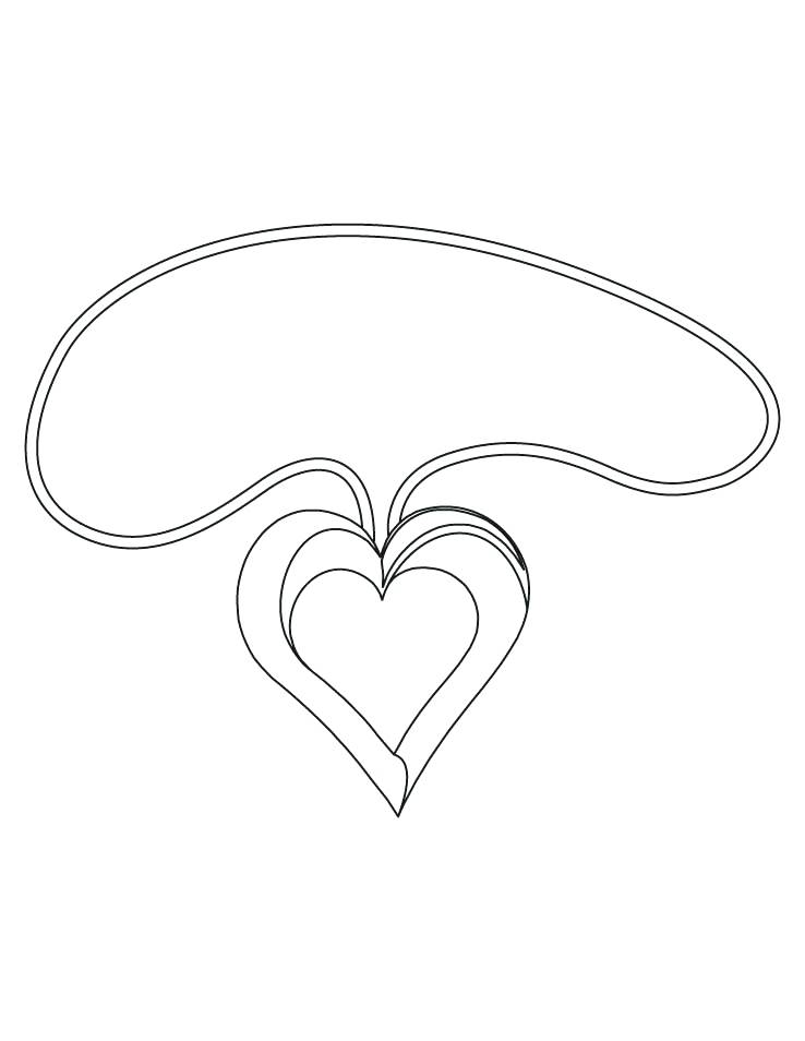 738x954 Heart Shape Coloring Pages Pink Heart Coloring Page Heart Shaped