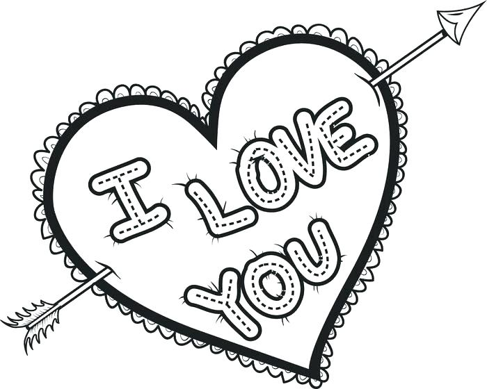 700x560 Valentine Heart Pictures To Color Valentine Heart Coloring Pages