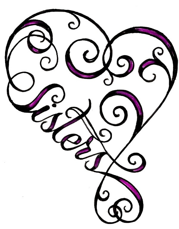 600x766 Heart Sister Tattoo Tattoo Ideas Central Beauty
