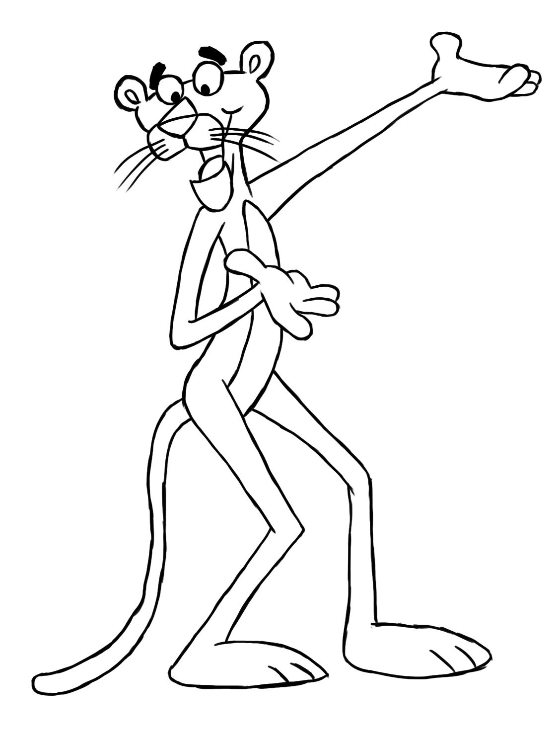1128x1497 How To Draw The Pink Panther 11 Steps (With Pictures)