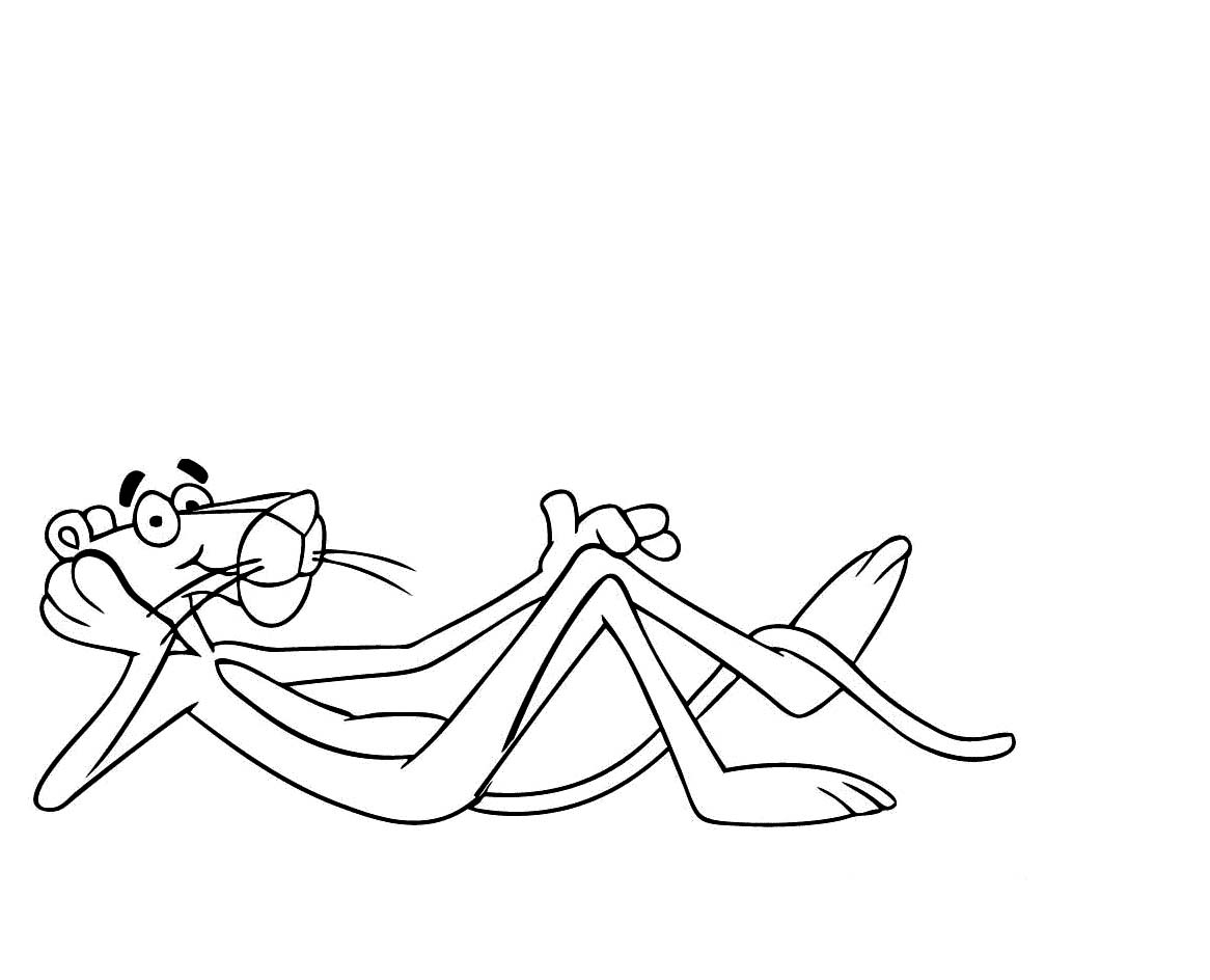 1166x944 Pink Panther Coloring Pages Paginone.biz