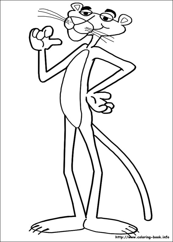 567x794 Pink Panther Coloring The Pink Panther Coloring Pages On Coloring