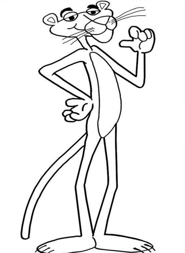 600x819 Pink Panther Proud Of Himself Coloring Pages Bulk Color