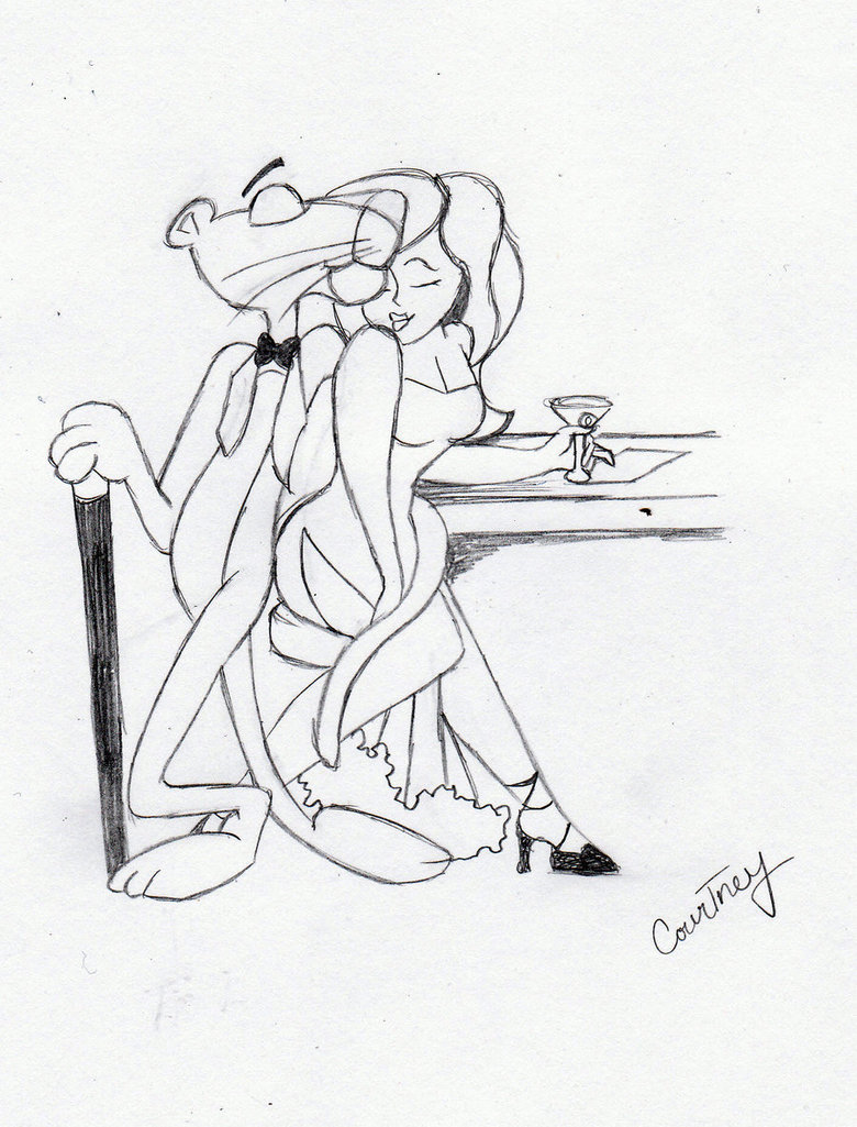 780x1025 Pink Panther Sketch By Passiononpaper