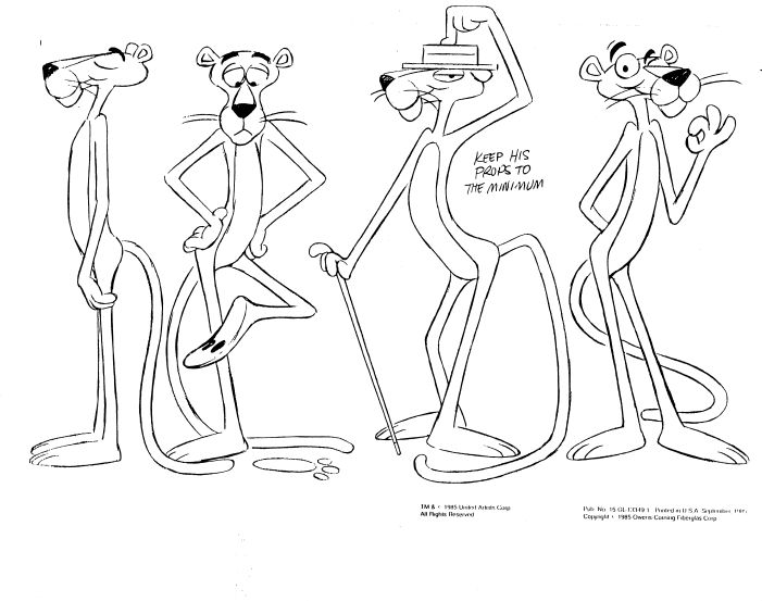 701x553 Pink Panther Model Sheets Traditional Animation